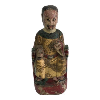 Antique Chinese Emperor Statue For Sale