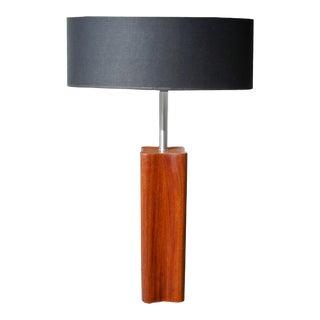 1960s Large Teak Quatrefoil Shape Lamp by Nessen For Sale