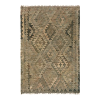 "Kilim Arya Xanthus Gray Brown Wool Rug - 2'10"" x 3'9"""