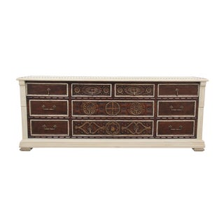 1980s Jacobean John Widdicomb Carved Dresser For Sale