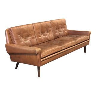 Svend Skipper Danish Leather Sofa For Sale