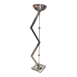 Modern Steel Torchiere by Jeff Mehringer For Sale