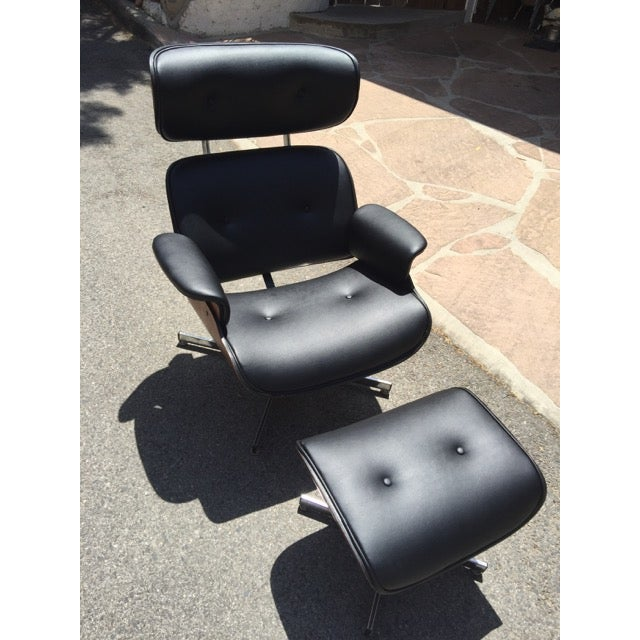 Fully Restored Plycraft Eames Lounge With Ottoman - Image 9 of 9