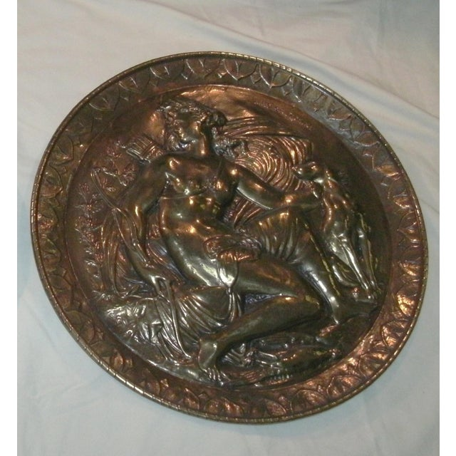 Mid 20th Century Hand Embossed Greek Mythology Wall Art Discs - Set of 3 For Sale - Image 5 of 13