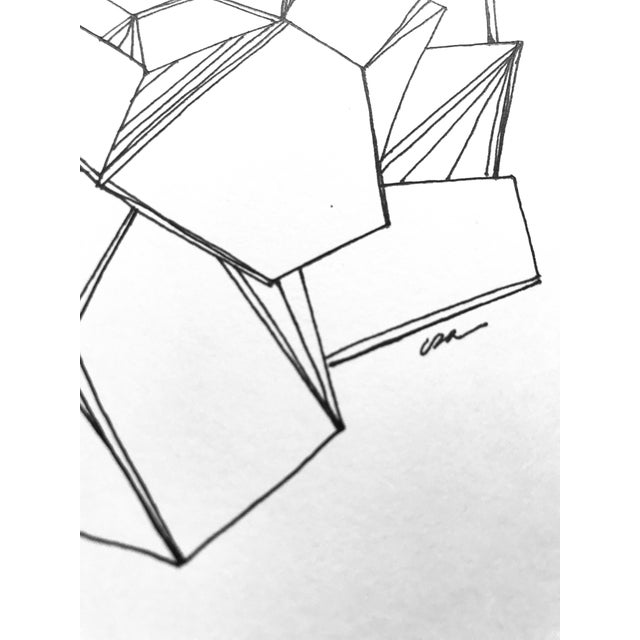 """""""Formations"""" Original Pen & Ink Drawing For Sale - Image 4 of 6"""