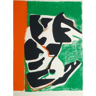 Reverdy, Vintage Abstract Serigraph For Sale