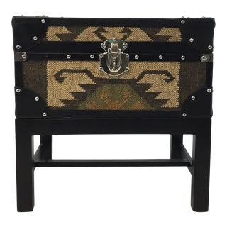 Tribal Aztec Box/Trunk on Stand/End Table For Sale