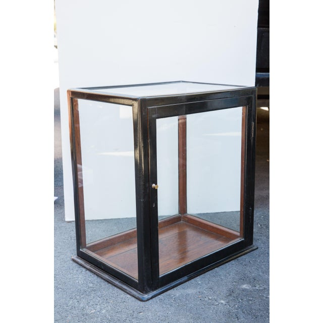 Ebonized Curio Cabinet For Sale - Image 5 of 9