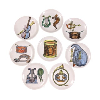 Mid-Century Bucciarelli Musical Coasters - Set of 8 For Sale