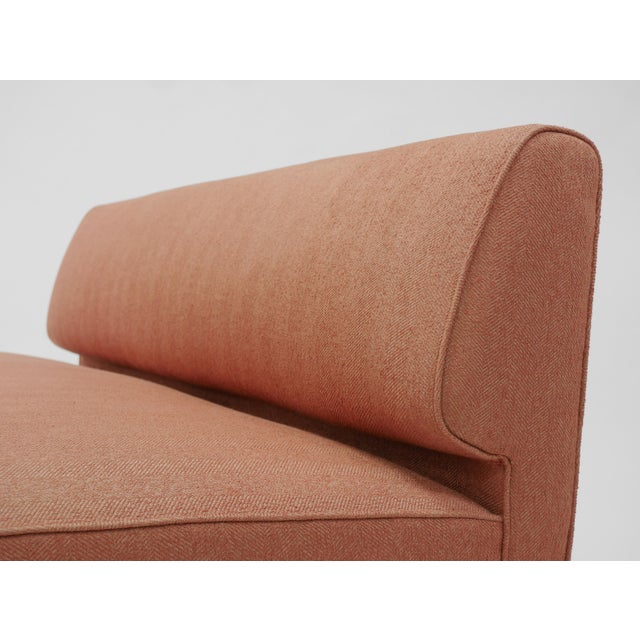 Fabric Channel back settee by Edward Wormley for Dunbar For Sale - Image 7 of 8