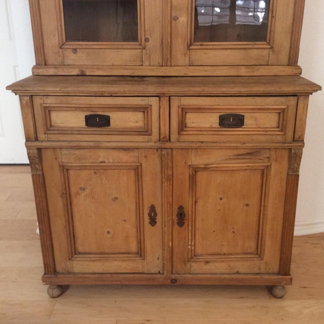 Early 20th Century Antique French Provincial Buffet/Display Cabinet For  Sale - Image 4 of - Early 20th Century Antique French Provincial Buffet/Display Cabinet