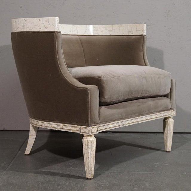 Velvet Barrel Chair - Image 2 of 8