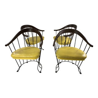 Mid Century Modern Walter of Wabash Wire Chairs - Set of 4 For Sale