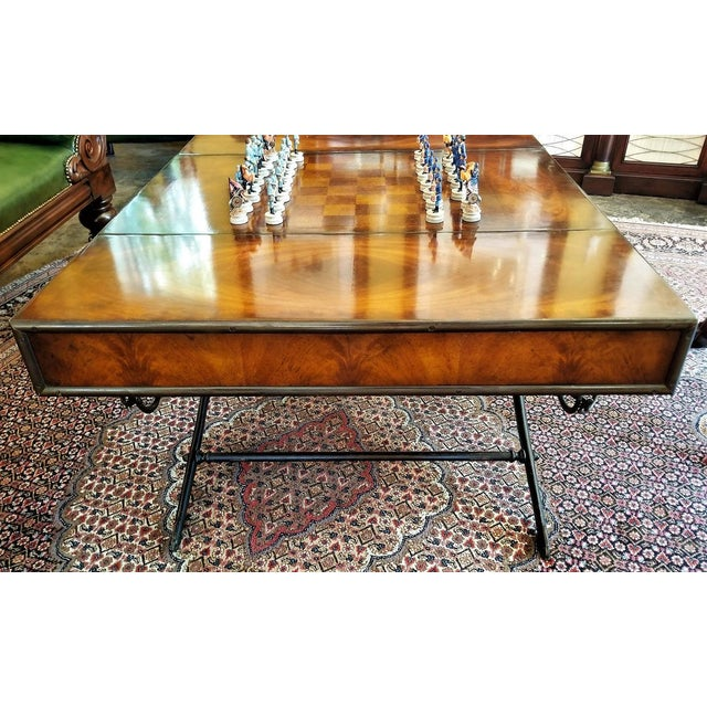 Civil War Themed Mahogany Games Table With Sword Legs For Sale - Image 11 of 13