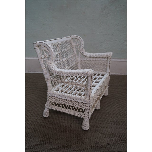 Victorian Child's Wicker Patio Set - Image 3 of 10