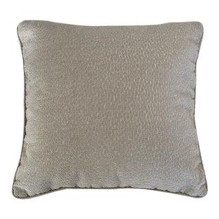 Biella Pale Gray Pillow For Sale