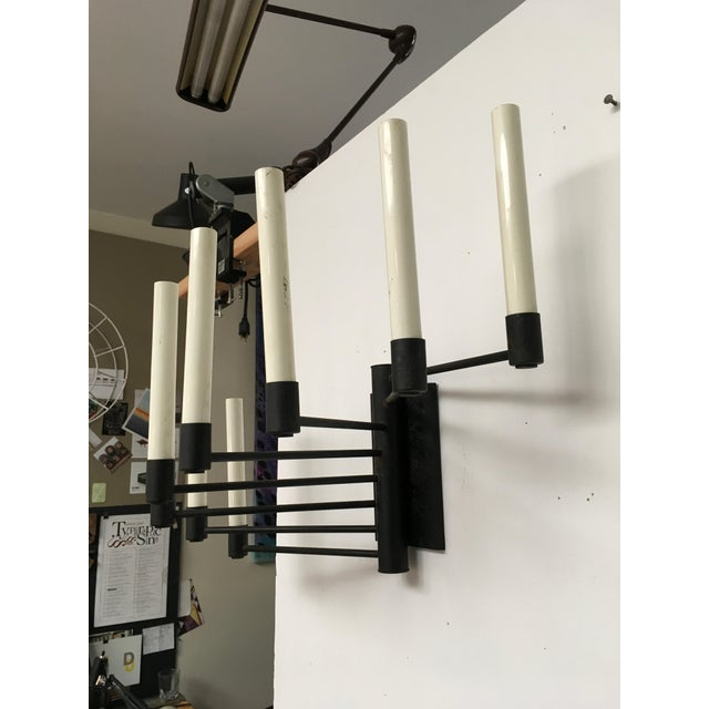 Black Lightolier Eight Arm Sconce For Sale - Image 9 of 9