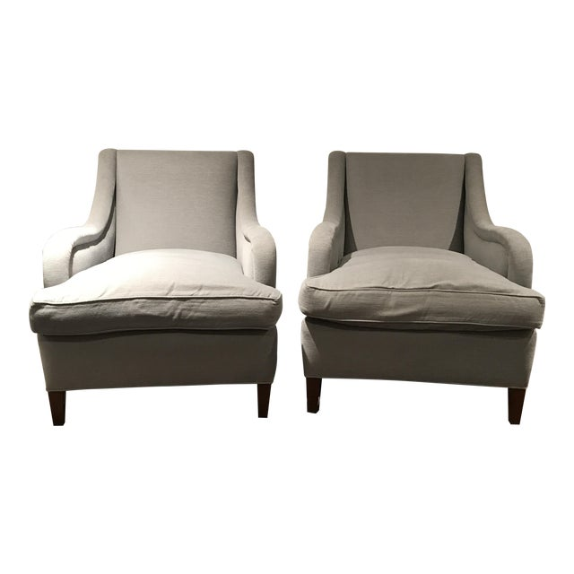 Reupholstered Art Deco Armchairs - A Pair - Image 1 of 6