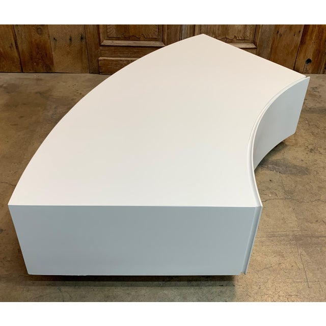 Mid-Century Modern Milo Baughman Floating Curved Sofa End Table For Sale - Image 10 of 10
