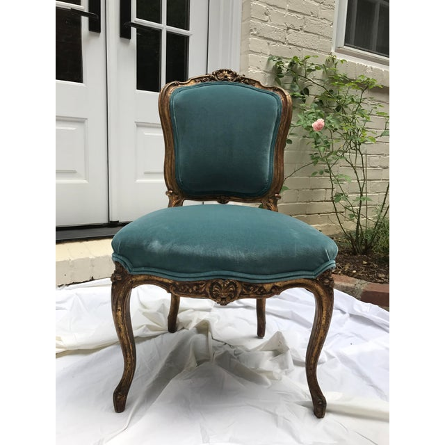 Belle Epoque Antique Gilt Ballroom Chair For Sale - Image 3 of 11