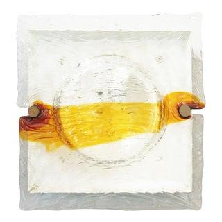 1960s Quilt Sconces / Flush Mounts by Venini For Sale
