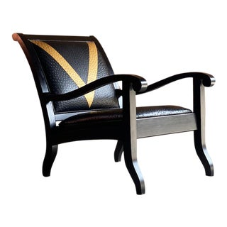 Vana Ostrich Hide Lounge Chair by Vanshree Singh South Africa For Sale