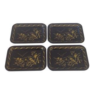 Black Tole Trays - Set of 4