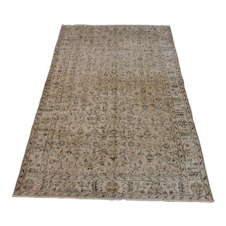 """1960s Turkish Handmade Floral Rug-5'5'x9"""" For Sale"""