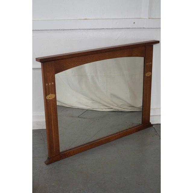 Stickley Harvey Ellis Inlaid Mission Oak Mirror - Image 6 of 10