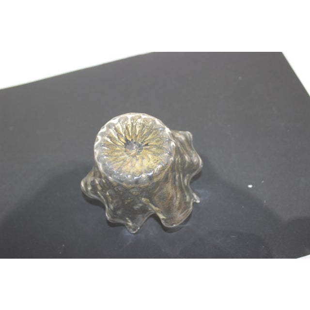 Petit Murano Glass Free Form Bowl Gold Flecked For Sale - Image 9 of 11