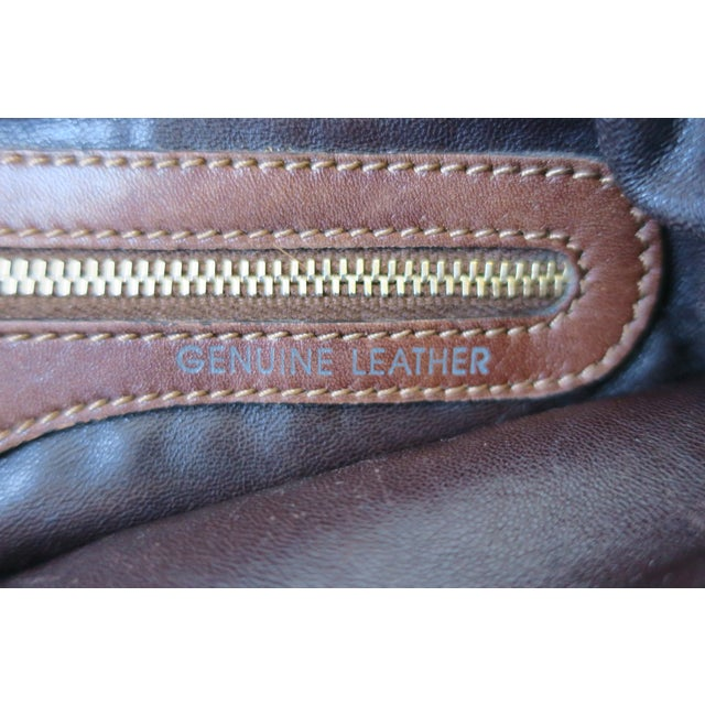 Tod's Brown Leather, Mink and Brass Handbag For Sale - Image 12 of 13