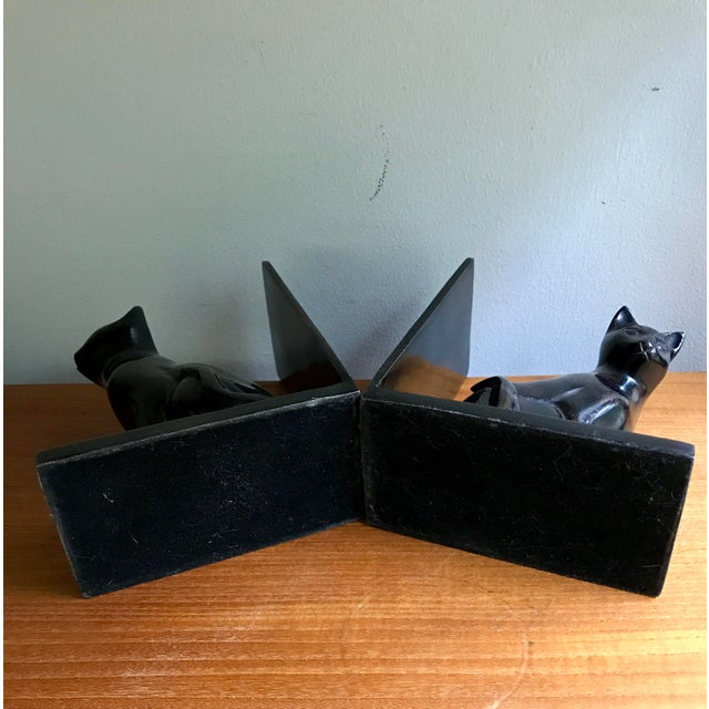 Vintage Book Ends Cats - Polished Stone, a Pair For Sale - Image 9 of 9