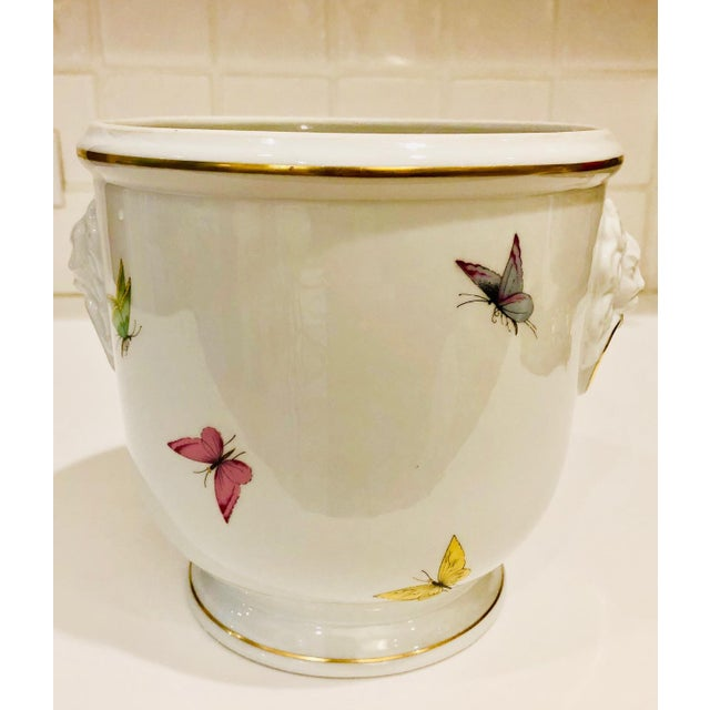 1930s Limoges Butterflies and Lion's Head Cachepot For Sale In New York - Image 6 of 13