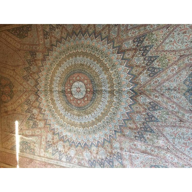 Finely Knotted Silk Qom Carpet - 7′10″ × 11′4″ - Image 4 of 8