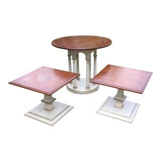 Authentic Vintage Hollywood Regency End Tables - Set of 3