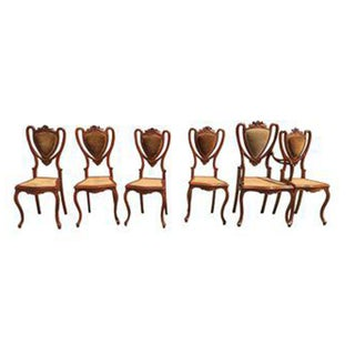 Shield Back Cane Chairs - Set of 6