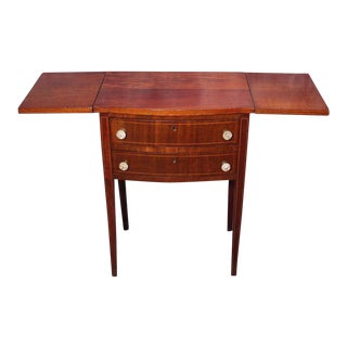 Antique Drop Leaf Mahogany End Table For Sale