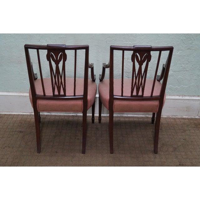 1940s Mahogany Hepplewhite Dining Chairs -Set of 6 - Image 7 of 10