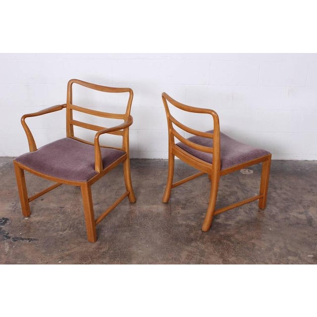 Tan Set of Eight Dining Chairs by Edward Wormley for Dunbar For Sale - Image 8 of 10