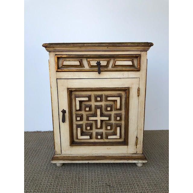 Metal Vintage Neoclassical Regency Table For Sale - Image 7 of 11