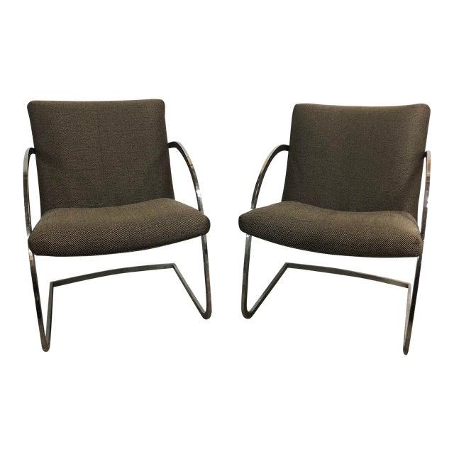1960s Original Milo Baughman for Thayer Coggin Lounge Chairs - a Pair For Sale