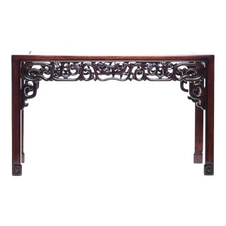 20th Century Chinese Lawrence & Scott Rosewood Hand-Carved Coffee Table For Sale