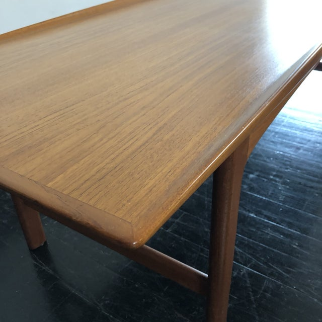 Brown 1960's Teak Frisco Surfboard Coffee Table by Folke Ohlsson For Sale - Image 8 of 13