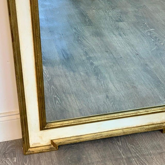 Gold Italian Neoclassic Giltwood and Parcel Gilt Mirror For Sale - Image 8 of 11