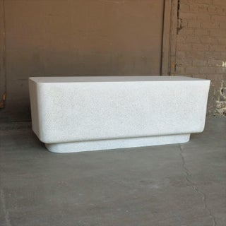 Cast Resin 'Block' Bench, Natural Stone Finish by Zachary A. Design Preview