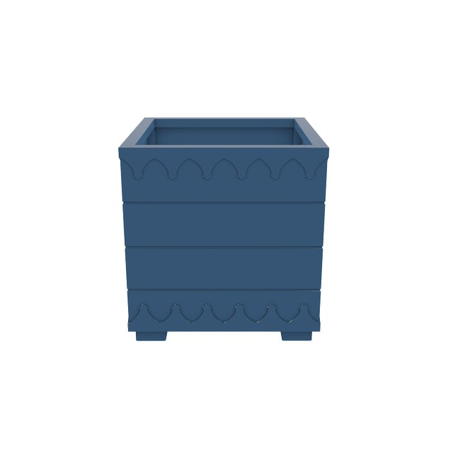 Not Yet Made - Made To Order Oomph Ocean Drive Outdoor Planter Large, Blue For Sale - Image 5 of 6