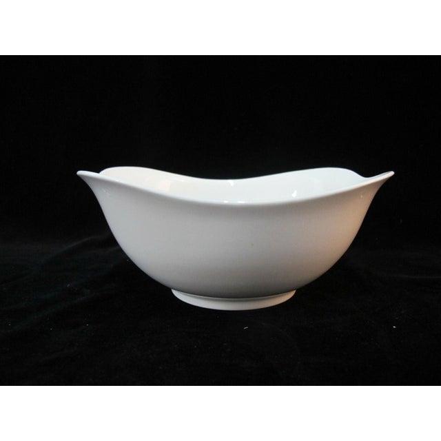 Eva Zeisel for Hallcraft mid century modern Fantasy 6 piece set of cereal bowls in white with black atomic design. Each...