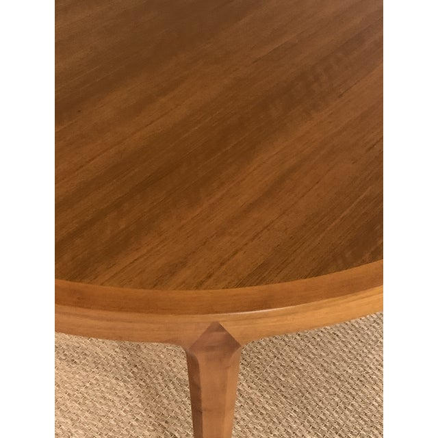 Vintage Swedish Walnut Dining Table by B. Fridhagen for Bodafors For Sale In Houston - Image 6 of 13