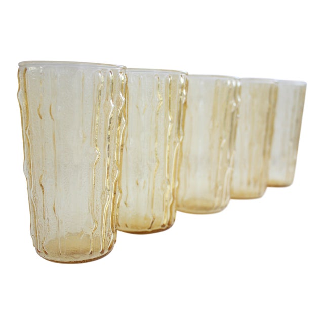 Vintage Bamboo Water Glasses - Set of 5 - Image 1 of 7