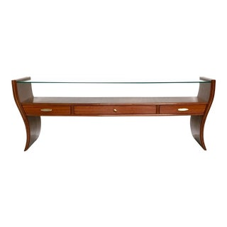 Console Table, Tv Stand or Vanity Ascribable to Guglielmo Ulrich, 1940s-1950s